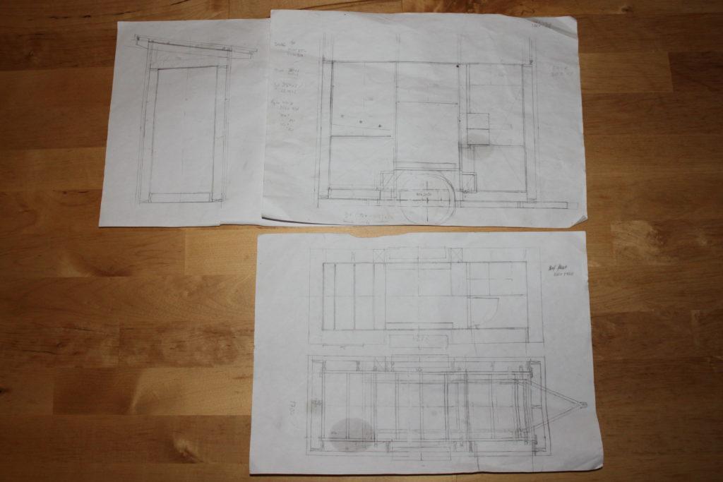 Nygårds Hönshusbygge på vagn ritningar