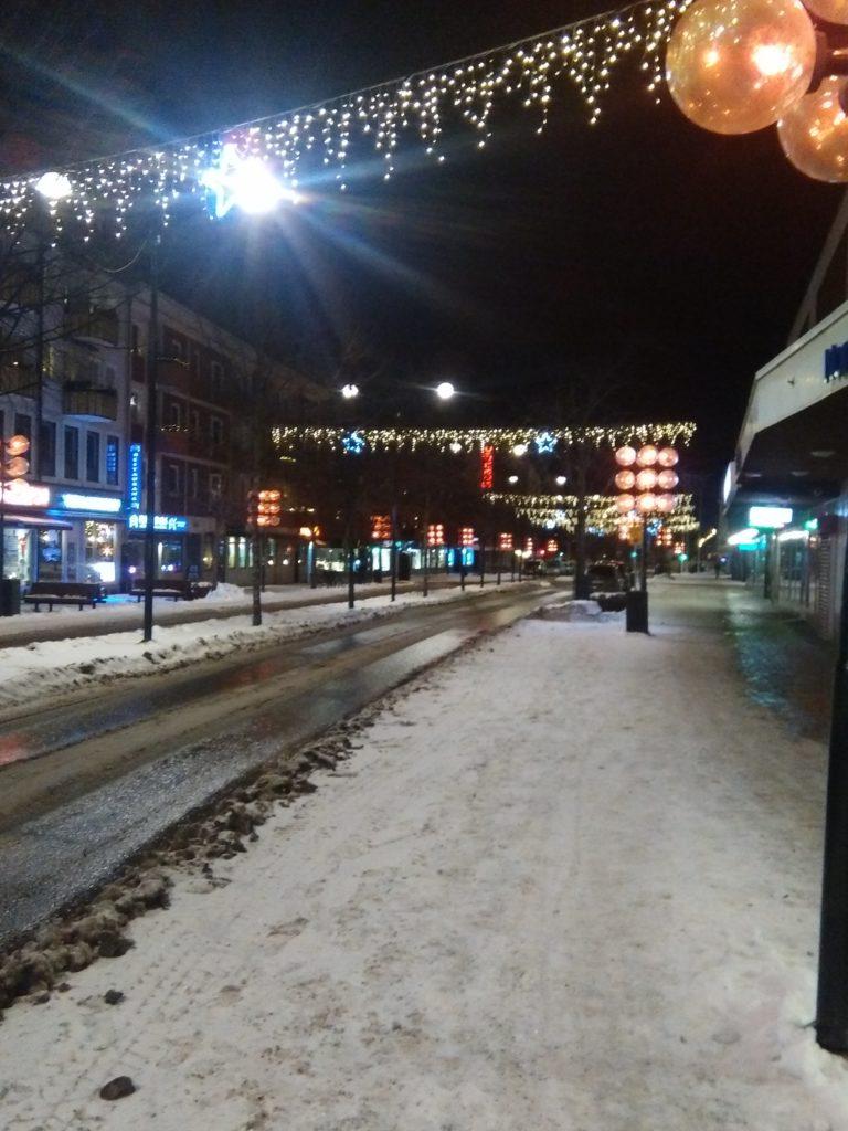 Julpyntat Borlänge